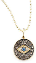Sydney Evan Small Diamond Evil Eye Medallion Necklace