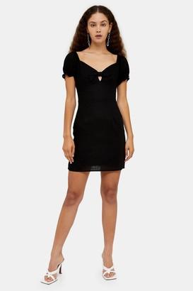 Glamorous Womens **Black Tie Front Prairie Dress By Black