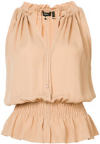 Theory sleeveless ruffle top - women - Silk - XS