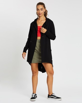 Silent Theory Women's Black Hoodies - Ashleigh Hooded Cardigan - Size One Size, 8 at The Iconic