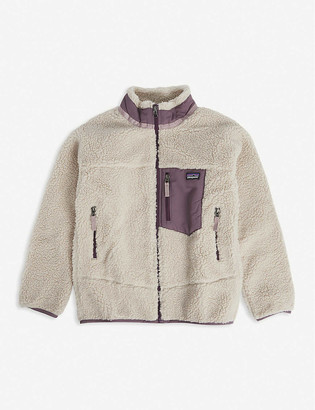 Patagonia Retro logo-embossed fleece jacket 5-14 years