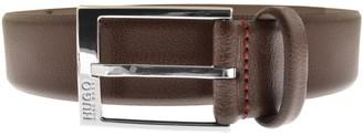 HUGO BOSS Gellot Leather Belt Brown
