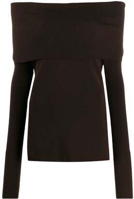 Romeo Gigli Pre Owned 1990s off-the-shoulders knitted top