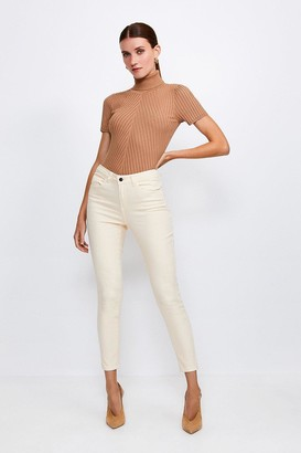 Karen Millen Clotted Cream Slim Leg Jean