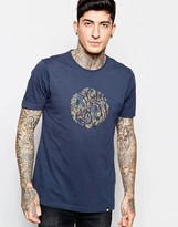 Pretty Green T-Shirt with Paisley Logo Print