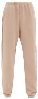 LES TIEN Cotton-jersey Loopback Sweatpants - Light Pink