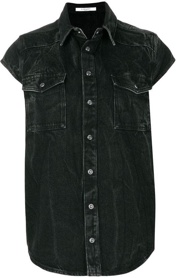 Givenchy denim shortsleeved shirt