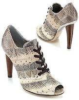 Runway Snakeskin Lace-Up Bootie