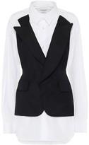 Junya Watanabe Cotton and wool-blend blazer shirt