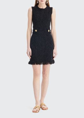 Oscar de la Renta Sleeveless Tweed Day Dress