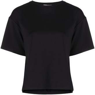 Area heart cut-out back T-shirt