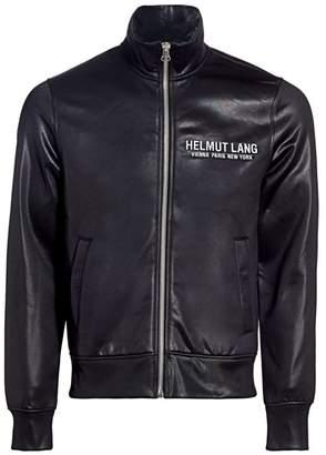 Helmut Lang Sash Coated Logo Track Jacket