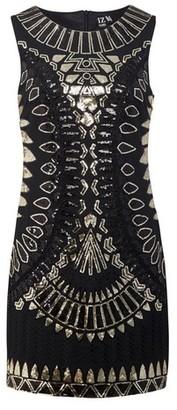 Dorothy Perkins Womens *Izabel London Black Sequin Shift Dress, Black