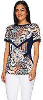 George Simonton Printed Milky Knit Short Sleeve Top