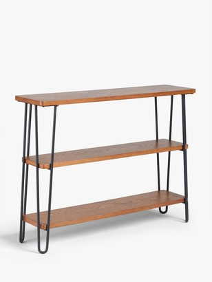 John Lewis & Partners Hairpin Low Bookcase