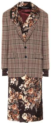 Junya Watanabe Wool blazer and floral hybrid dress