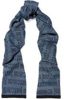 Just Cavalli Intarsia Wool-Blend Scarf