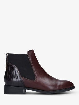 Carvela Stifle Leather Chelsea Boots, Wine