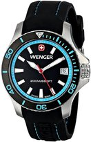 Wenger Women's 36mm Black Rubber Band Steel Case Anti Reflective Sapphire Quartz Analog Watch 01.0621.106