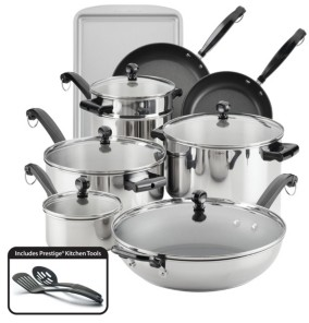 Farberware Classic Series Stainless Steel 16-Pc. Cookware and Bakeware Set
