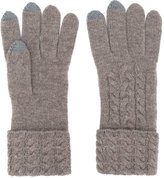 N.Peal cable knit gloves - women - Cashmere - One Size