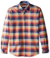 James Campbell Men's Lithgow Plaid Long Sleeve Sport Shirt