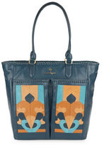 Nanette Lepore Echo Suede and Leather Tote