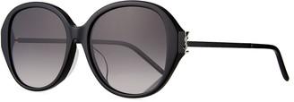 Saint Laurent Round Acetate & Metal Sunglasses