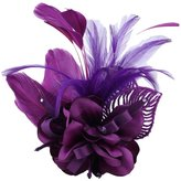 Sheliky Flower Fascinator Hair Clip Wedding Accessory Birdal Dress Brooch Pin for Women