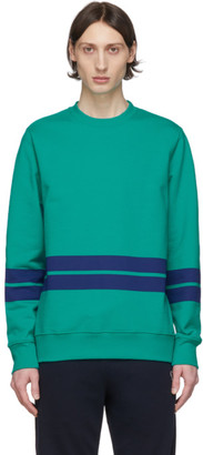 Paul Smith Green and Navy Striped Sweatshirt