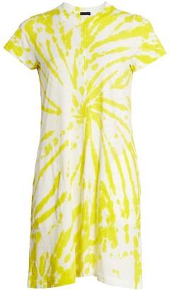 ATM Anthony Thomas Melillo Tie-Dye Short Sleeve Dress