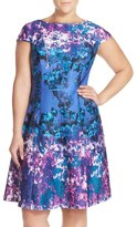 Adrianna Papell Print Fit & Flare Dress (Plus Size)