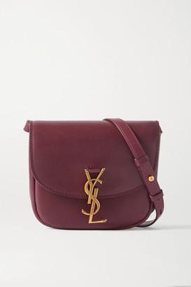 Saint Laurent Kaia Small Leather Shoulder Bag - Burgundy