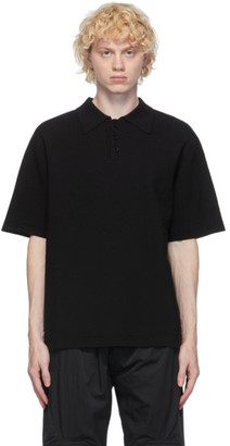 System Black Wool Polo