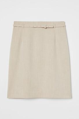 H&M Pencil Skirt - Beige