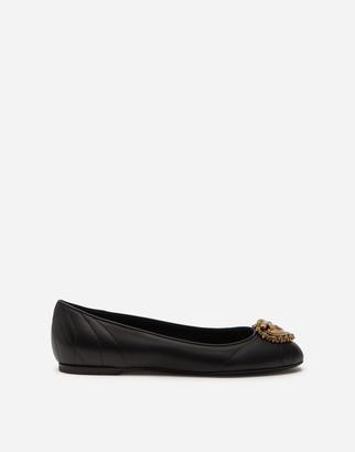 Dolce & Gabbana Lambskin Devotion Flats