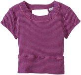 Splendid Classic Stripe Cropped Top (Kid) - Hot Pink-12