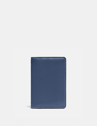 Coach Card Wallet In Colorblock With Signature Canvas Detail