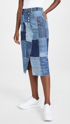 Current/Elliott The Patchwork Skirt