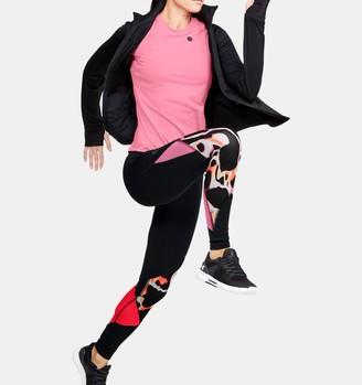 Under Armour Women's UA RUSH Print Color Block Leggings