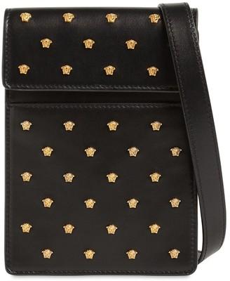 Versace Studded Leather Crossbody Bag