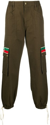 Gucci Web-detail cargo trousers