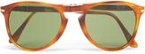 Persol - Round-frame Folding Tortoiseshell Acetate Sunglasses