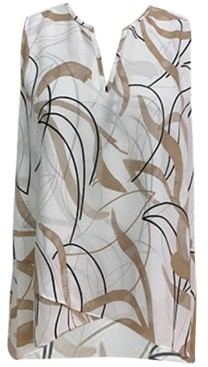 Alfani Printed Crossover Sleeveless Top, Created for Macy's