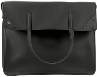 Fendi Crossbody Bags Regular Tote Bag In Smooth Leather With Ff Shoulder Strap