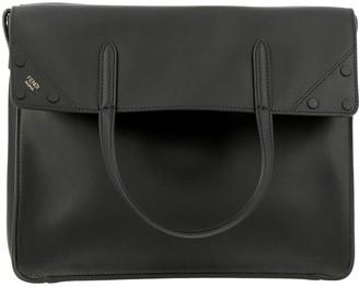 Fendi Regular Tote Bag In Smooth Leather With Ff Shoulder Strap