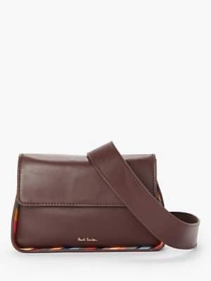 Paul Smith Leather Swirl Trim Cross Body Belt Bag, Brown