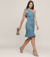 Reiss Beatrice One-Shoulder Knitted Dress