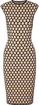 Alexander McQueen Honeycomb-intarsia stretch-knit dress