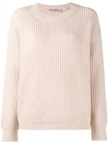 Vince Crewneck Ribbed Sweater
